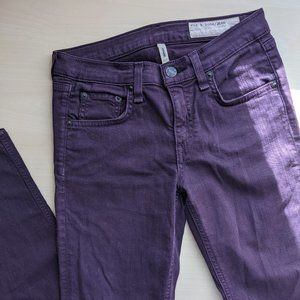 RAG & BONE Eggplant Mid-Rise Skinny Jean 24
